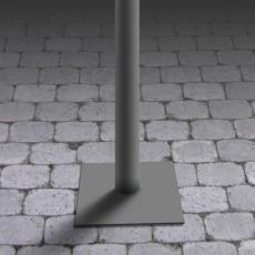 Säule für Außenleuchte City mit Kontaktplatte