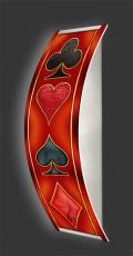 Casino-Wandleuchte Longlight - LED-Leuchte Motiv 011