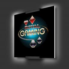 Casino-Wandleuchte Planora, quadrat. Form